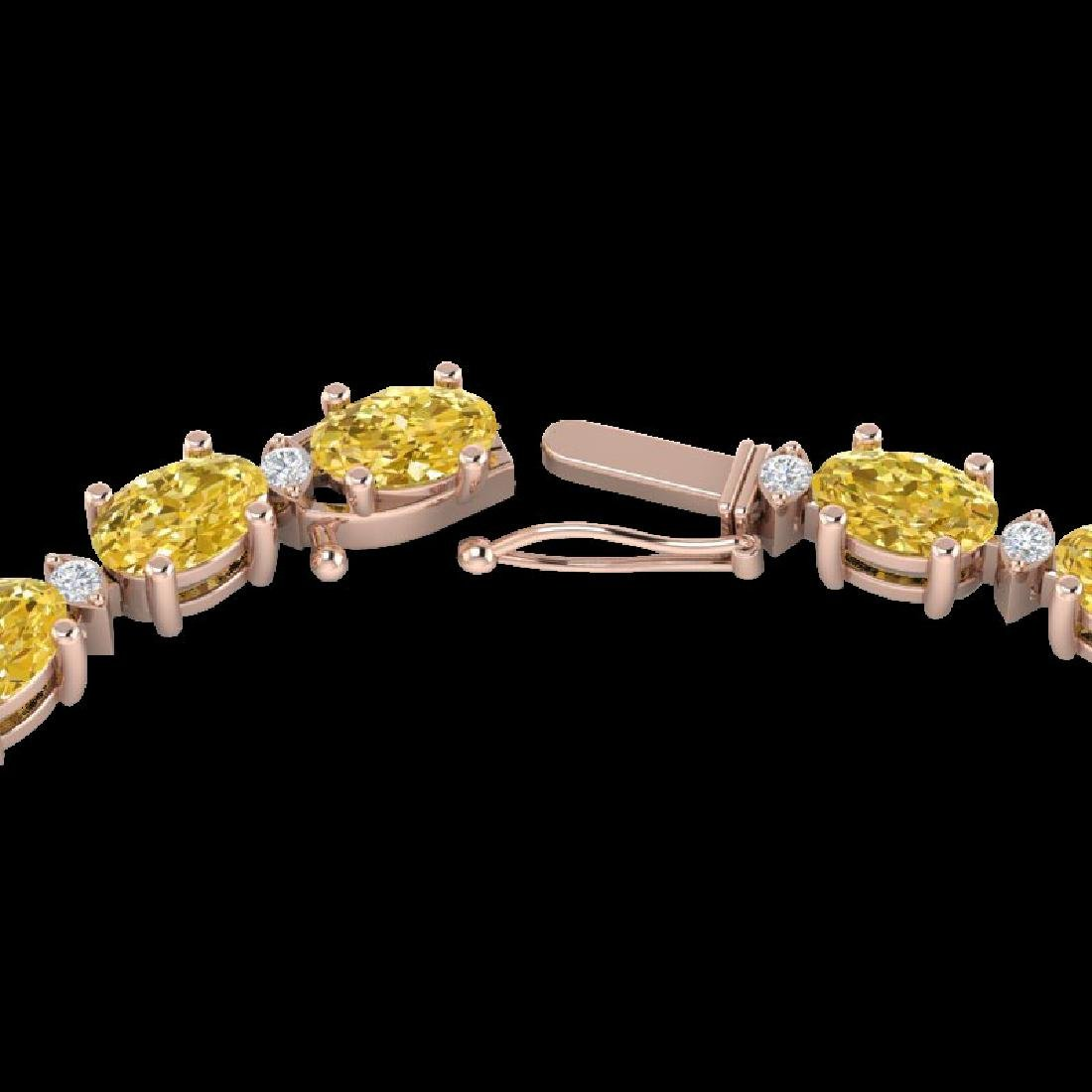 28 CTW Citrine & VS/SI Diamond Eternity Tennis Necklace