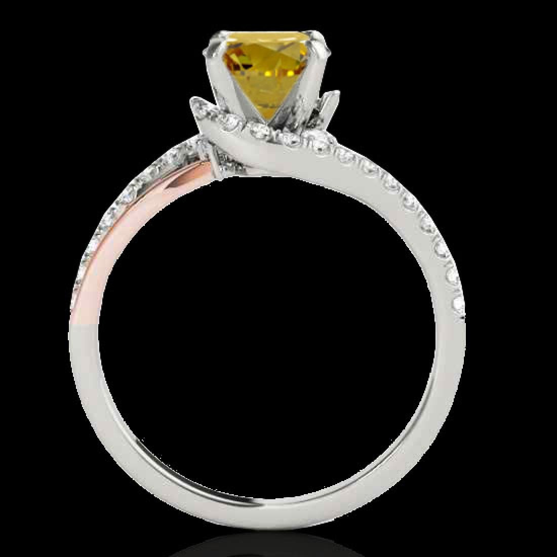 1.35 CTW Certified Si Fancy Diamond Bypass Solitaire - 2