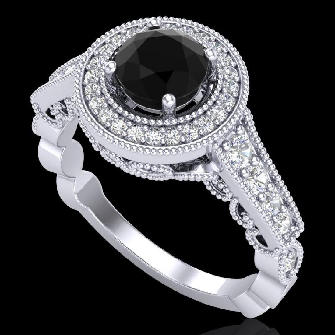 1.12 CTW Fancy Black Diamond Solitaire Engagement Art