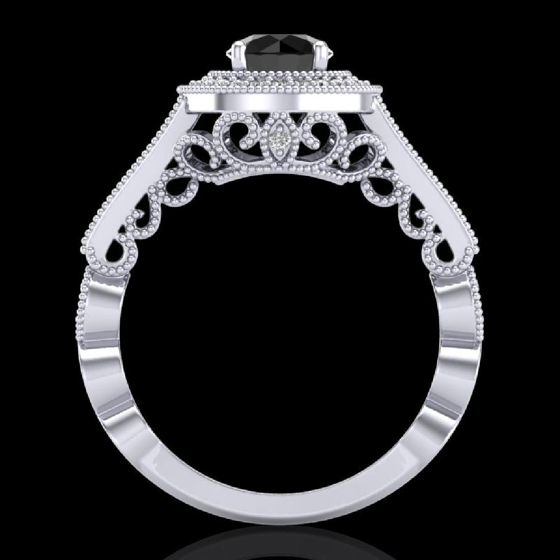 1.12 CTW Fancy Black Diamond Solitaire Engagement Art - 3