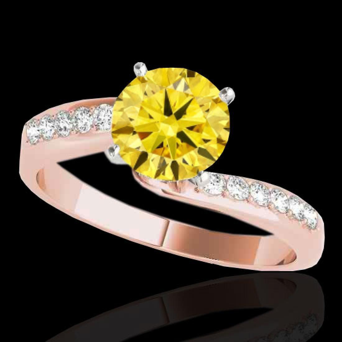 1.4 CTW Certified Si Fancy Yellow Diamond Bypass