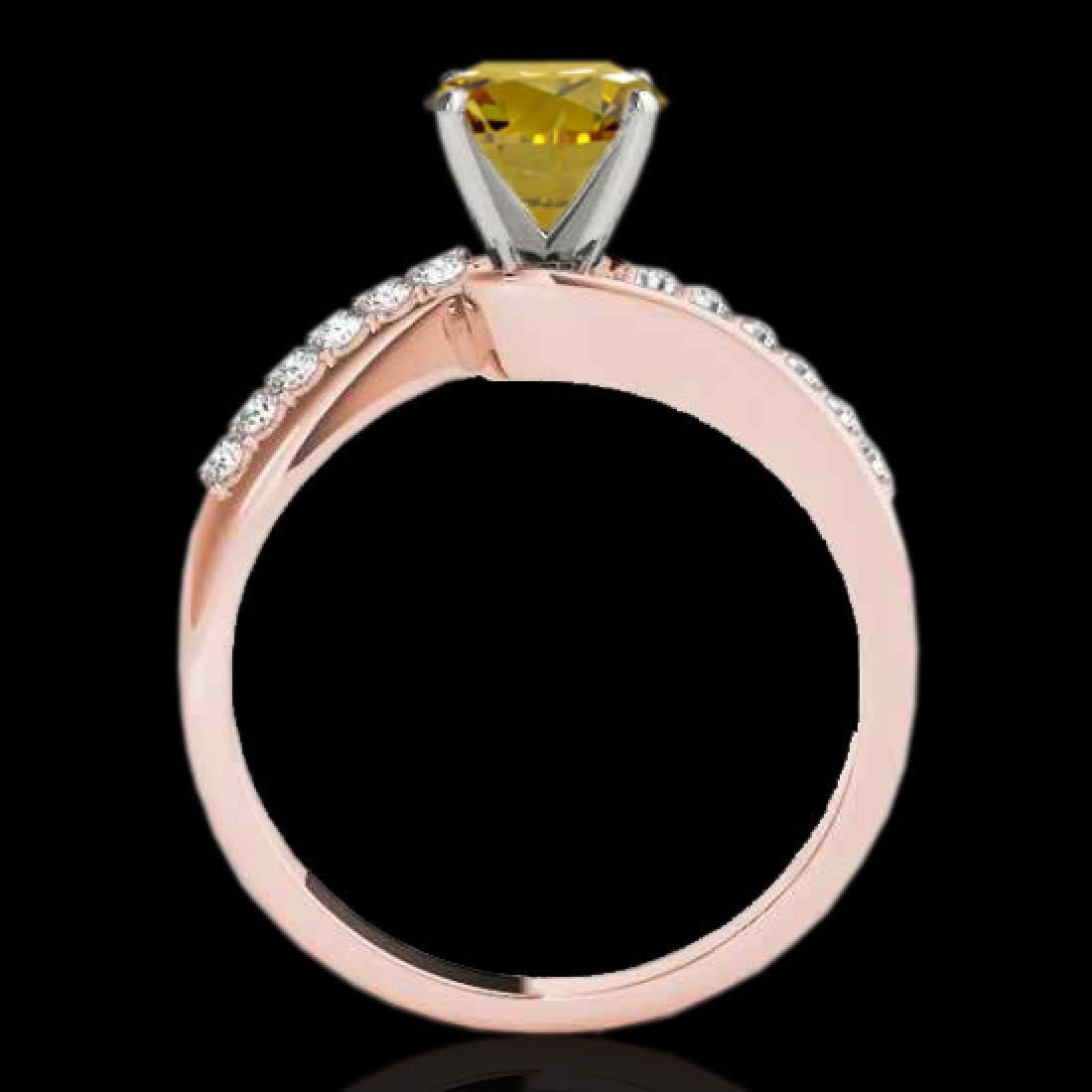 1.4 CTW Certified Si Fancy Yellow Diamond Bypass - 2