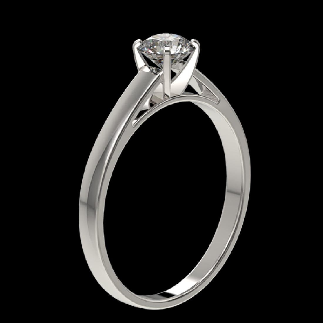 0.51 CTW Certified H-SI/I Quality Diamond Solitaire - 3