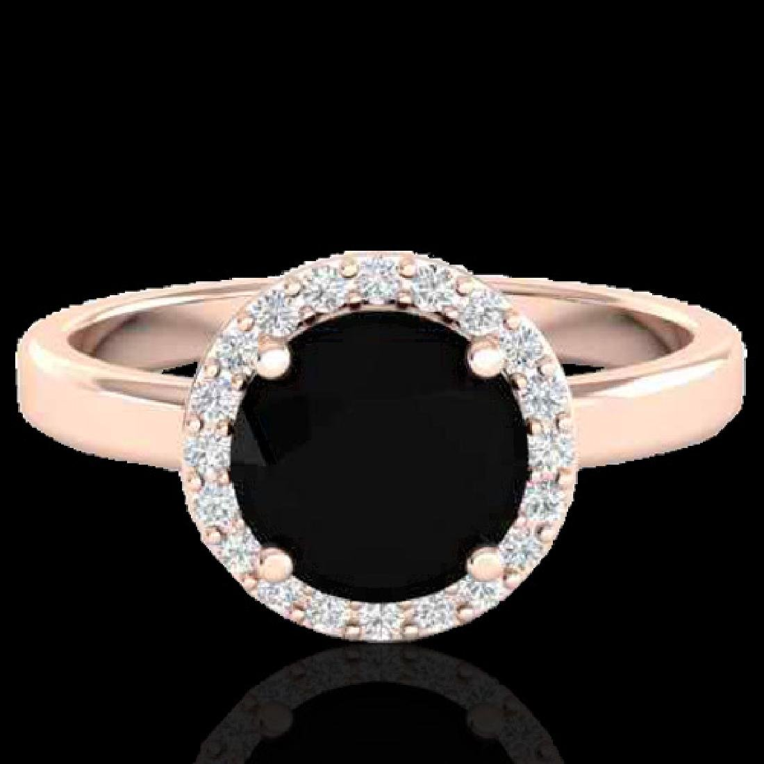 2 CTW Halo VS/SI Diamond Micro Pave Ring Solitaire 14K
