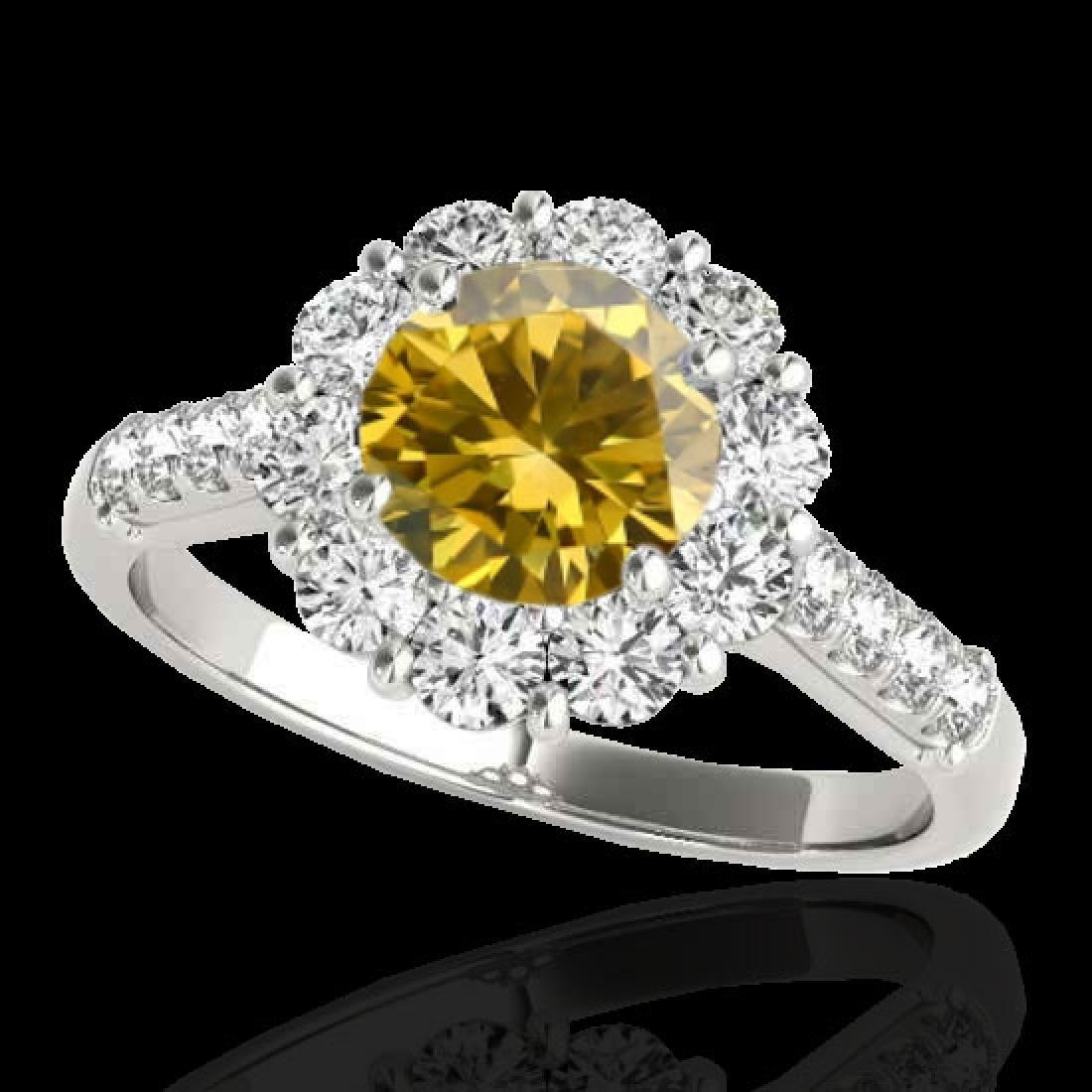 2.75 CTW Certified SI/I Fancy Intense Yellow Diamond