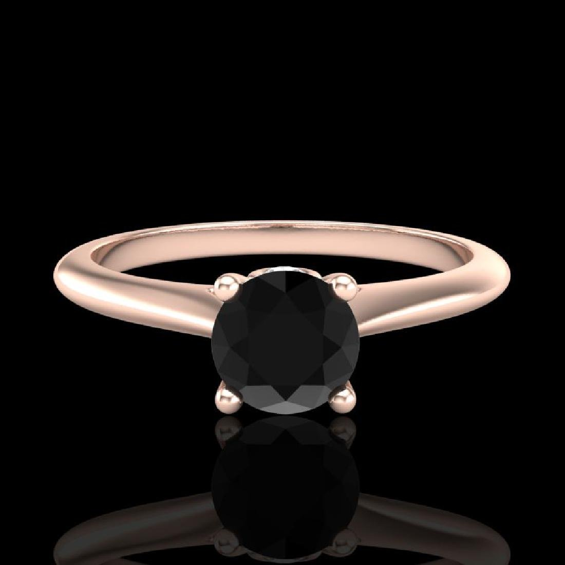 0.56 CTW Fancy Black Diamond Solitaire Engagement Art - 2