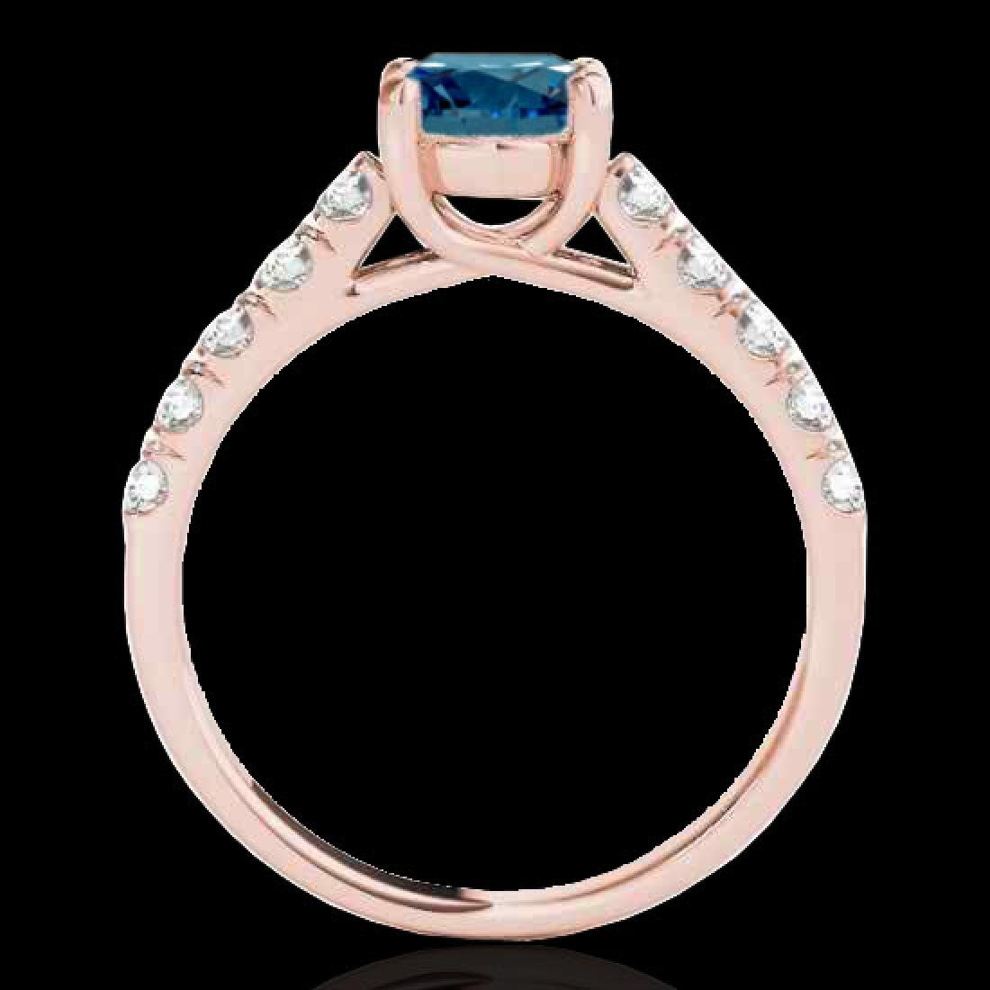 1.55 CTW SI Certified Fancy Blue Diamond Solitaire Ring - 2