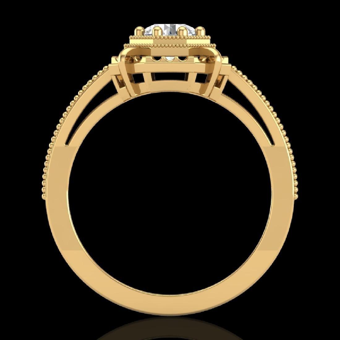 0.53 CTW VS/SI Diamond Art Deco Ring 18K Yellow Gold