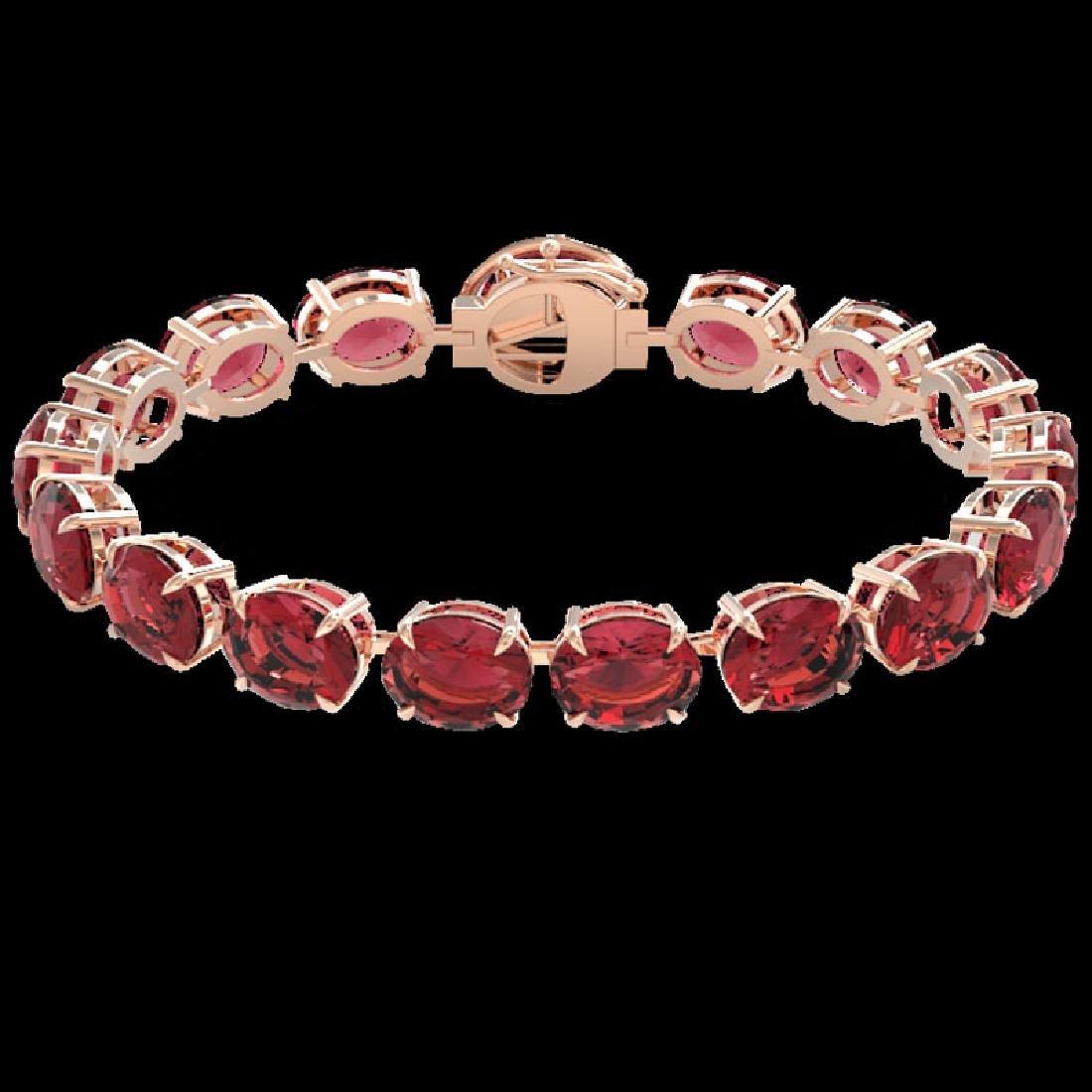 65 CTW Pink Tourmaline & Micro VS/SI Diamond Halo - 2