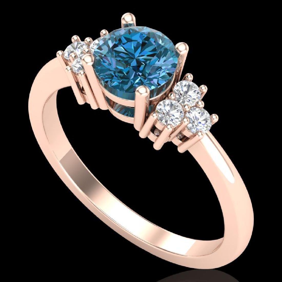1 CTW Fancy Intense Blue Diamond Engagement Classic