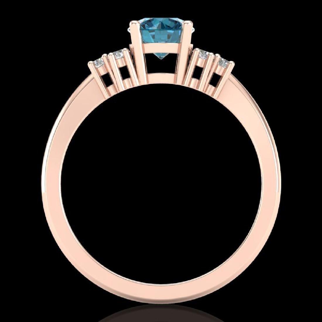 1 CTW Fancy Intense Blue Diamond Engagement Classic - 3