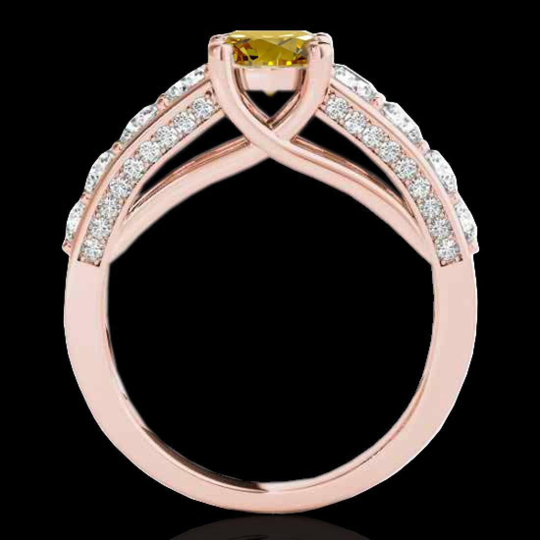 2.55 CTW Certified SI/I Fancy Intense Yellow Diamond - 2