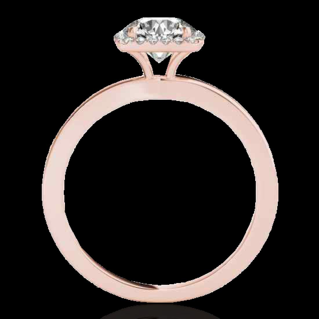 1.15 CTW H-SI/I Certified Diamond Solitaire Halo Ring - 2