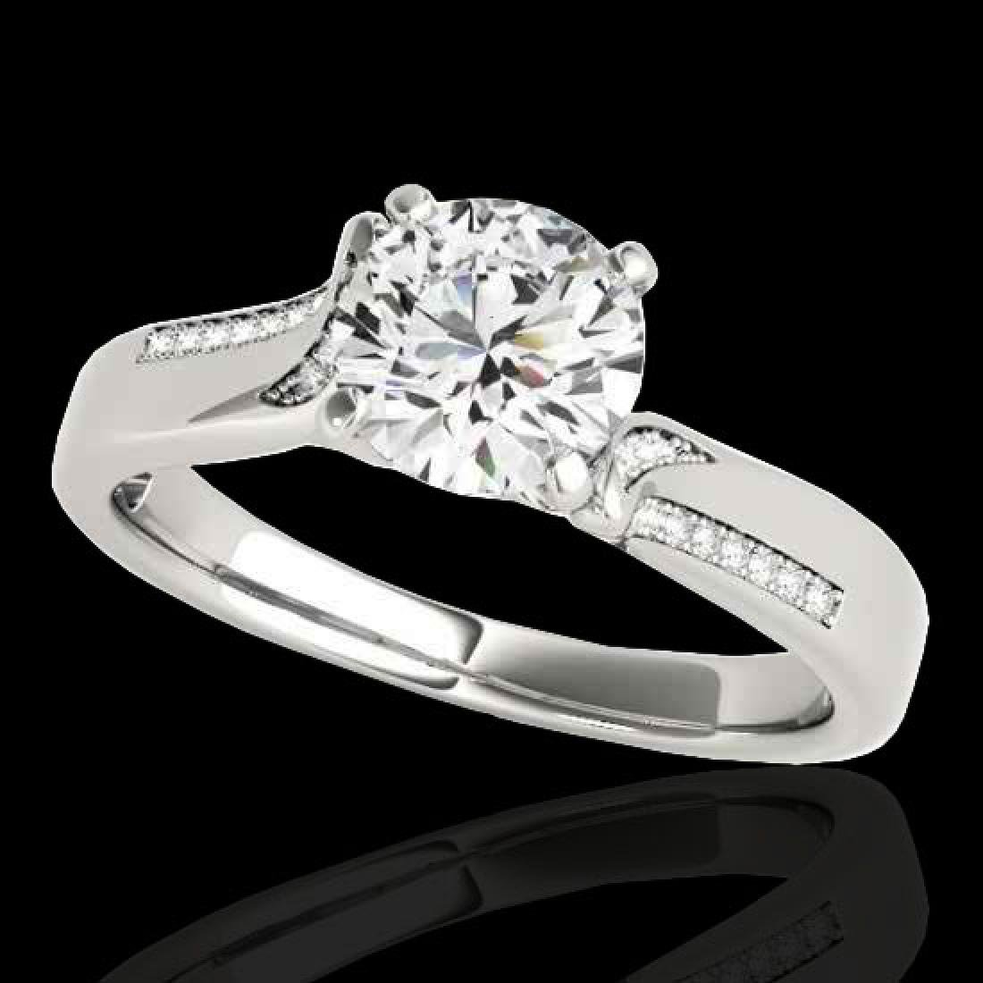 1.18 CTW H-SI/I Certified Diamond Solitaire Ring 10K