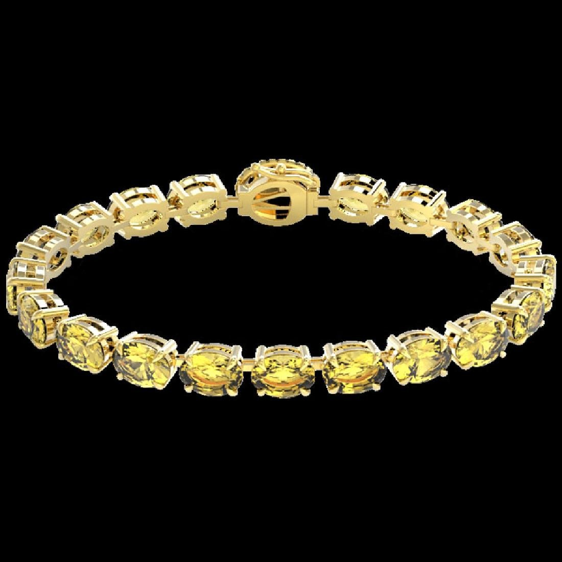 19.25 CTW Citrine & VS/SI Diamond Tennis Micro Pave - 2