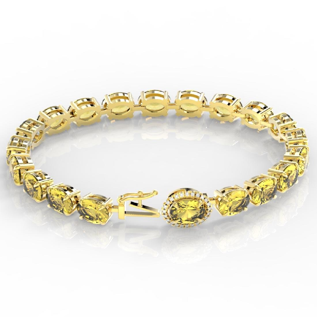 19.25 CTW Citrine & VS/SI Diamond Tennis Micro Pave - 3