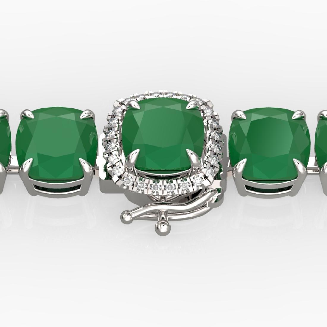 46 CTW Emerald & Micro VS/SI Diamond Halo Designer