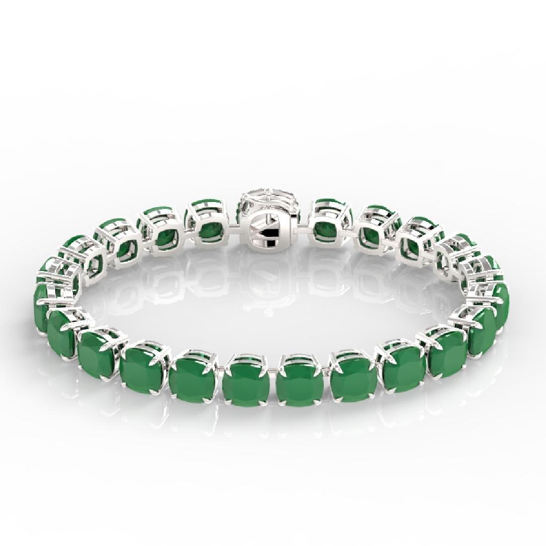 46 CTW Emerald & Micro VS/SI Diamond Halo Designer - 2