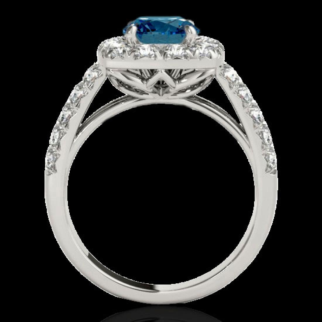 2.5 CTW SI Certified Fancy Blue Diamond Solitaire Halo - 2