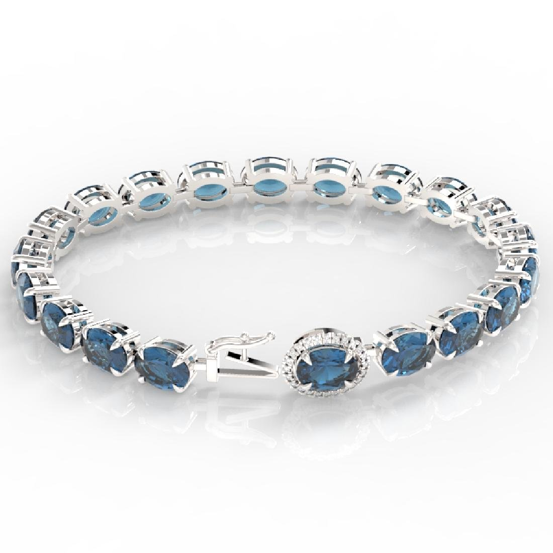 36 CTW London Blue Topaz & VS/SI Diamond Tennis Micro - 2