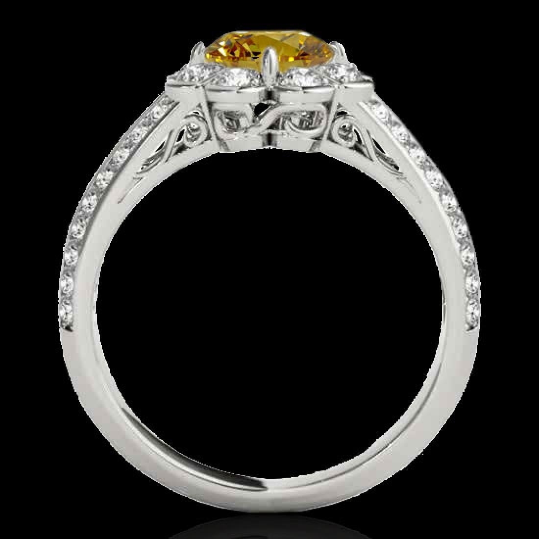 2.05 CTW Certified SI/I Fancy Intense Yellow Diamond - 2