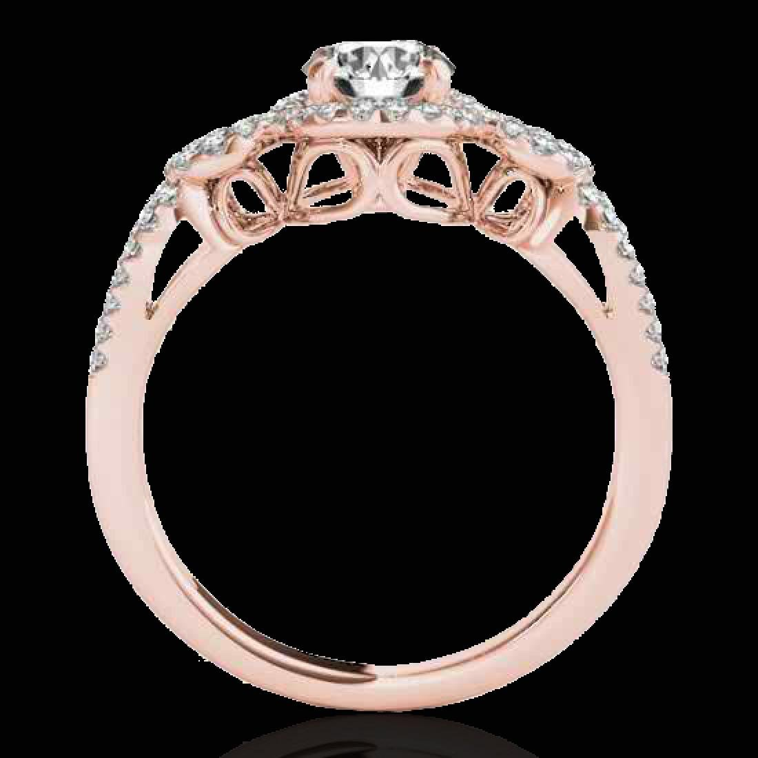 1.38 CTW H-SI/I Certified Diamond Solitaire Halo Ring - 2