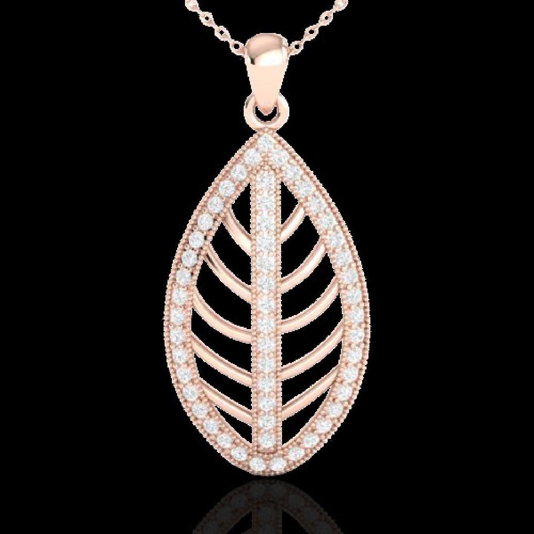 1 CTW Micro Pave VS/SI Diamond Designer Necklace 14K