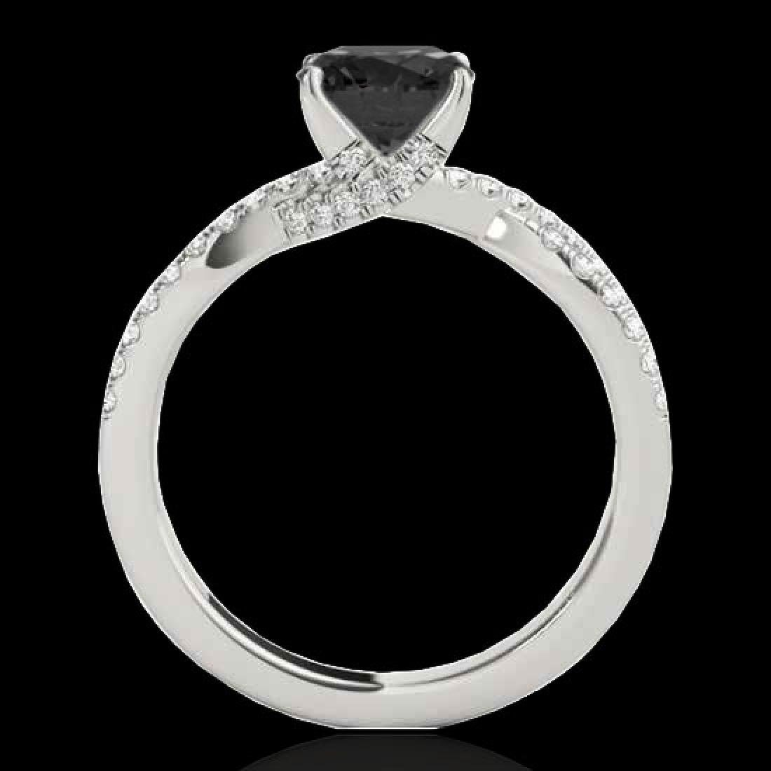 1.3 CTW Certified VS Black Diamond Solitaire Ring 10K - 2