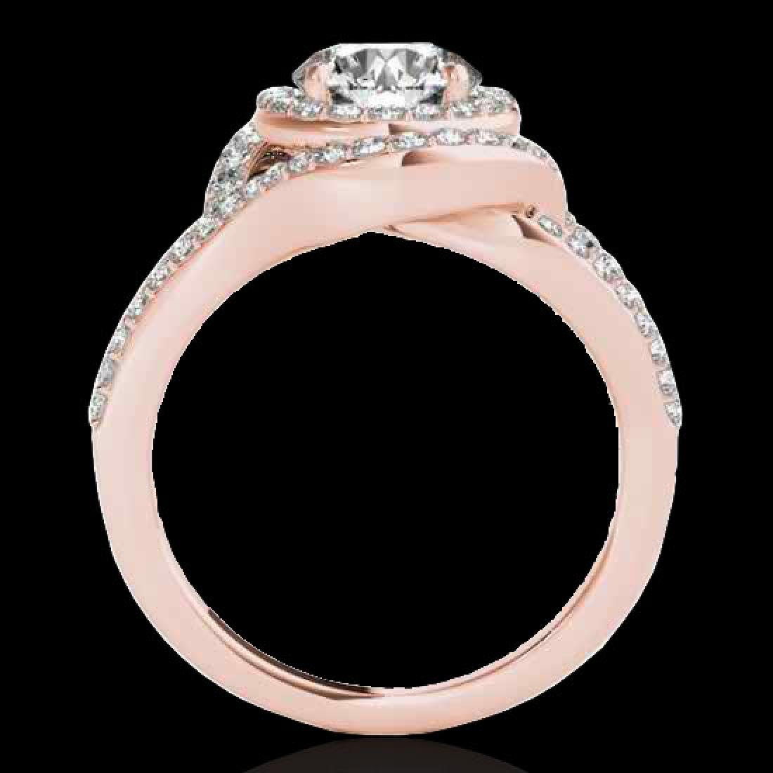 1.9 CTW H-SI/I Certified Diamond Solitaire Halo Ring - 2