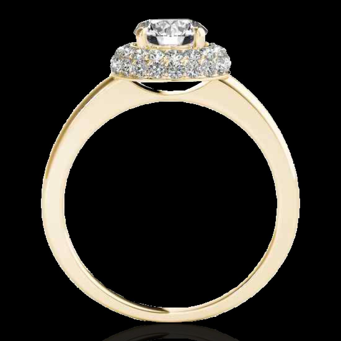 1.43 CTW H-SI/I Certified Diamond Solitaire Halo Ring - 2