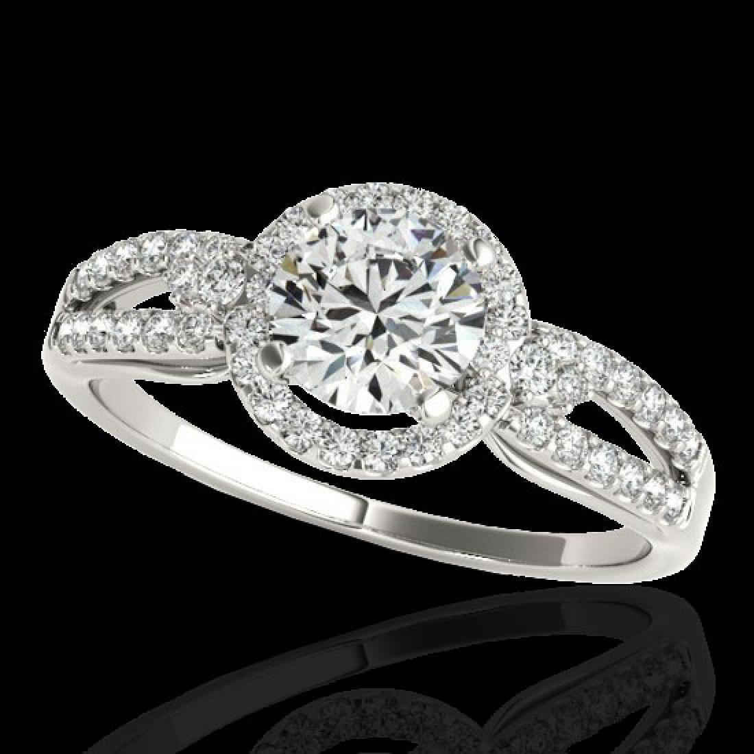 1.25 CTW H-SI/I Certified Diamond Solitaire Halo Ring