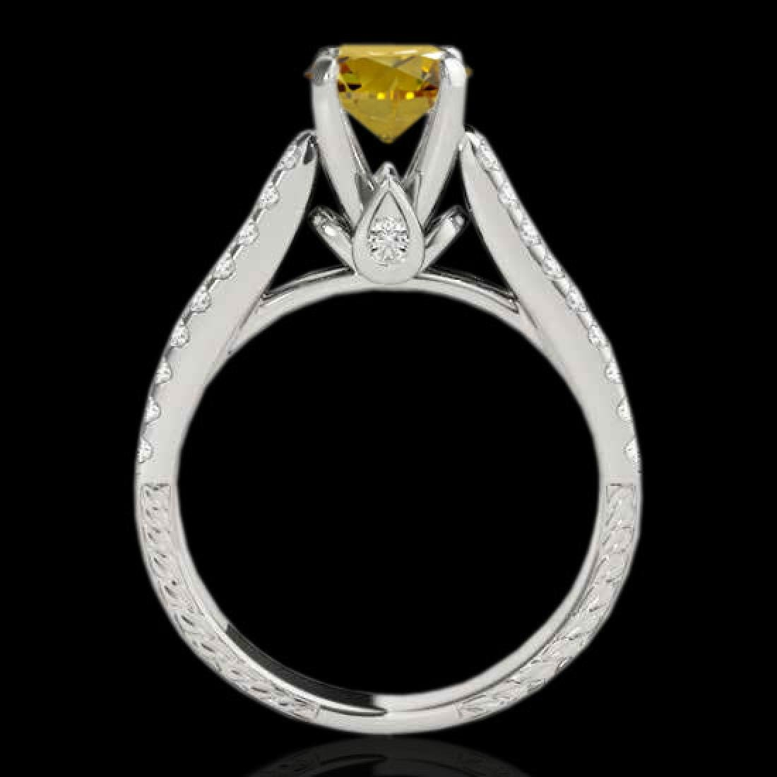 1.61 CTW Certified SI/I Fancy Intense Yellow Diamond - 2
