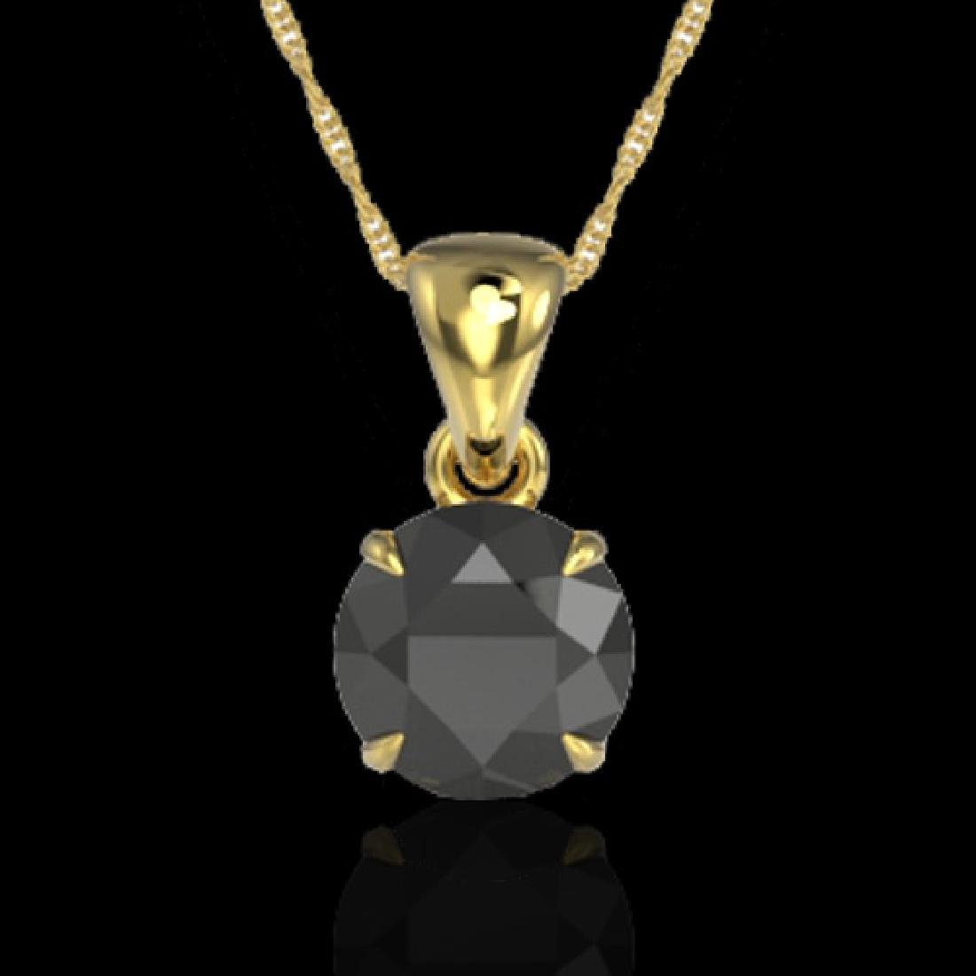 2 CTW Black VS/SI Diamond Inspired Solitaire Necklace