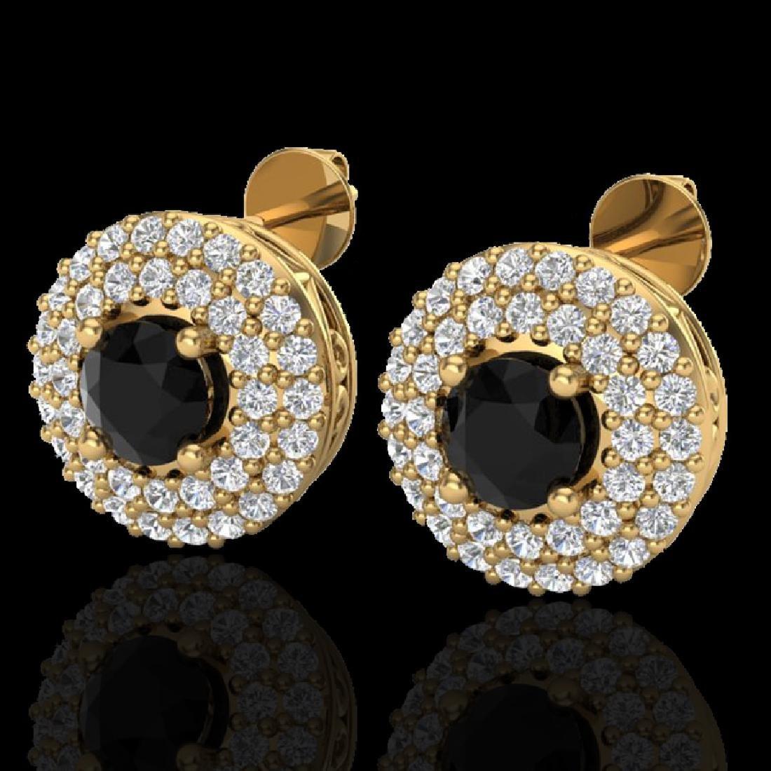 1.40 CTW Micro VS/SI Diamond Designer Earrings 18K