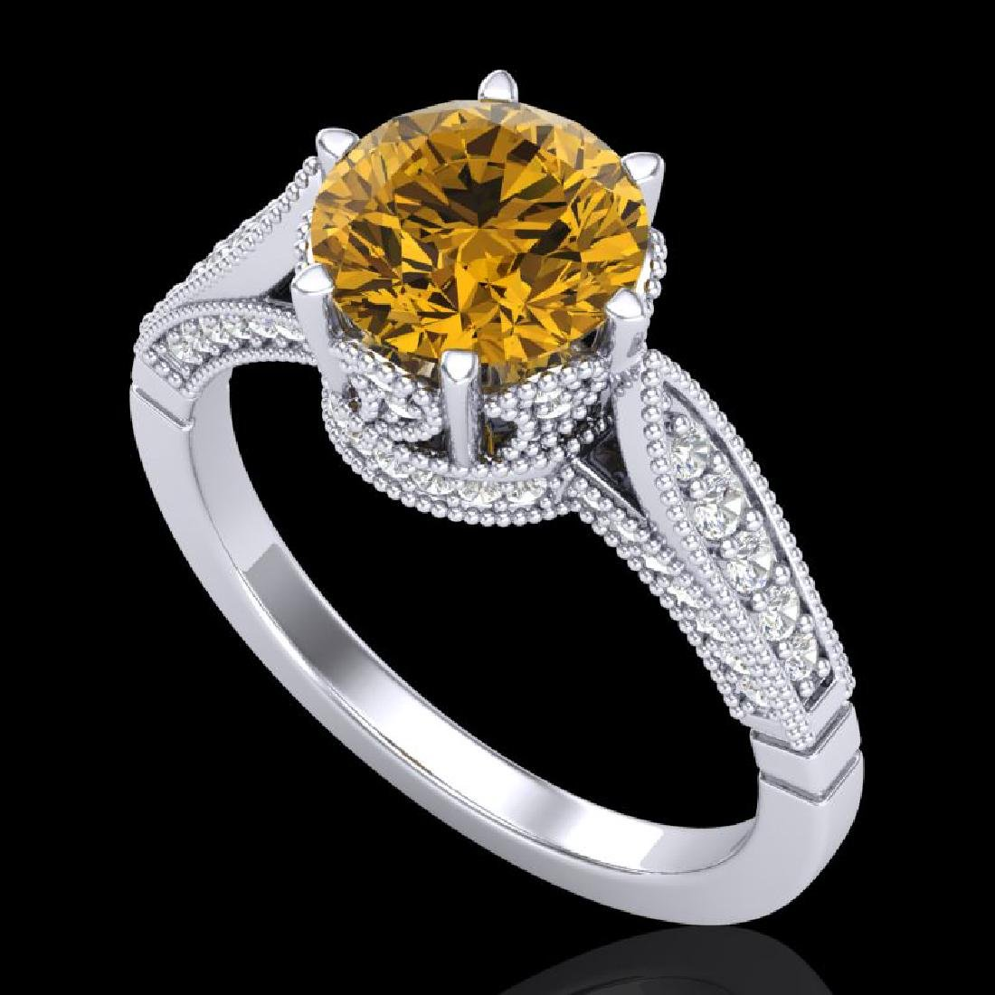 2.2 CTW Intense Fancy Yellow Diamond Engagement Art
