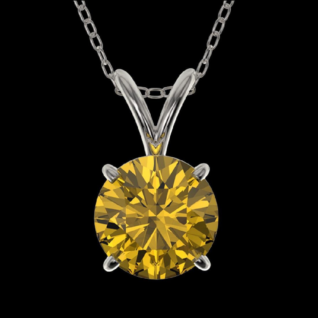 1.05 CTW Certified Intense Yellow SI Diamond Solitaire