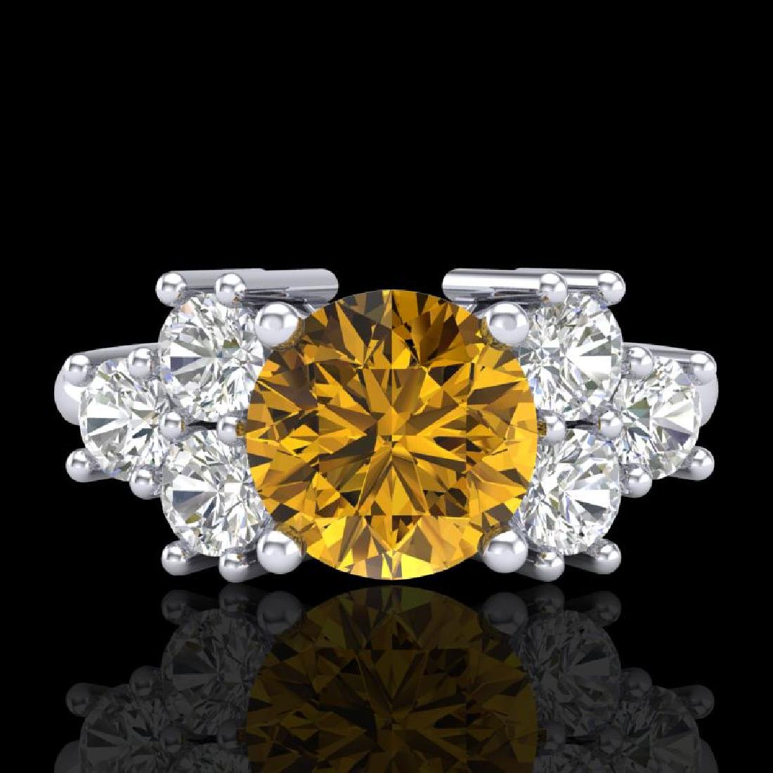 2.1 CTW Intense Fancy Yellow Diamond Solitaire Classic