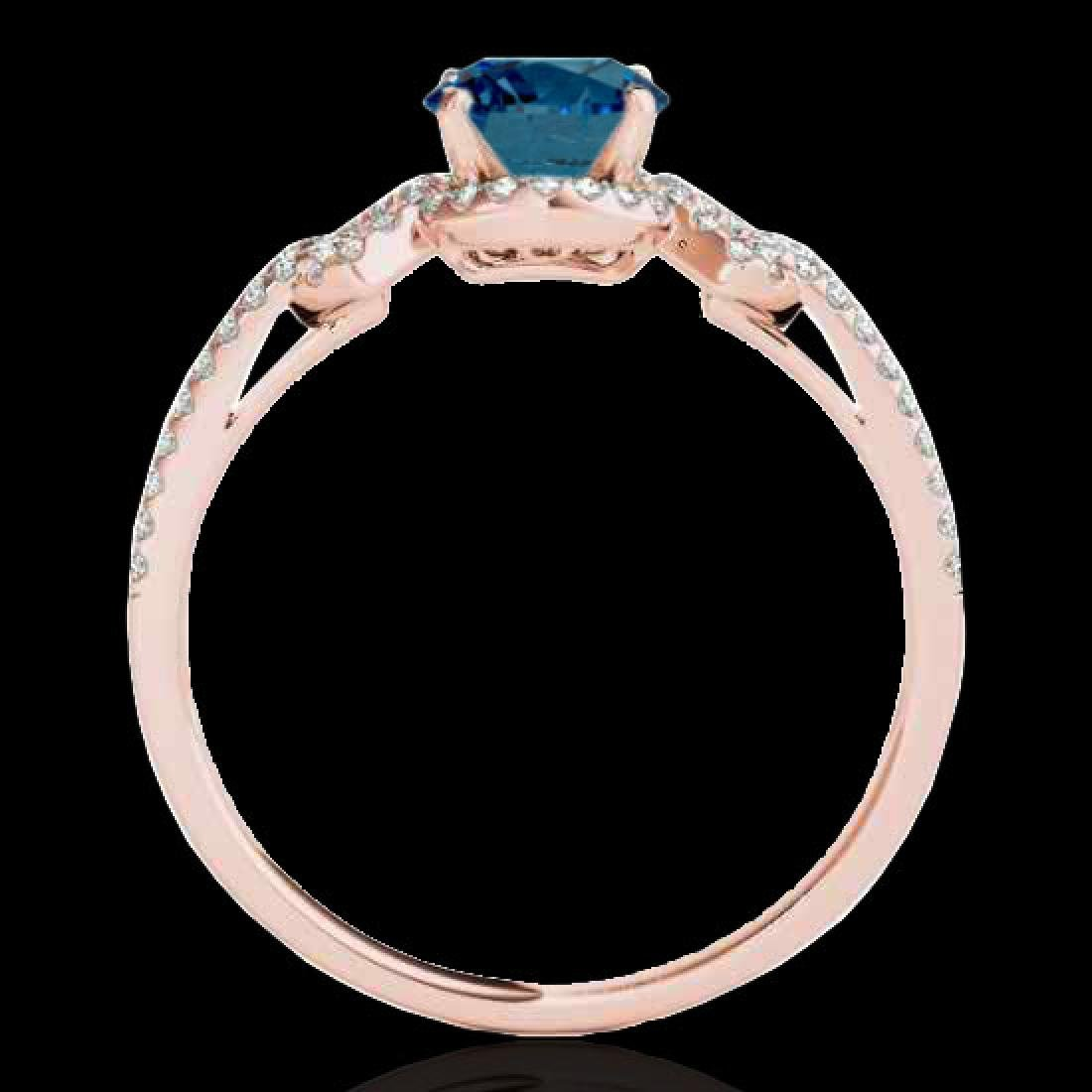 1.36 CTW SI Certified Fancy Blue Diamond Solitaire Ring - 2