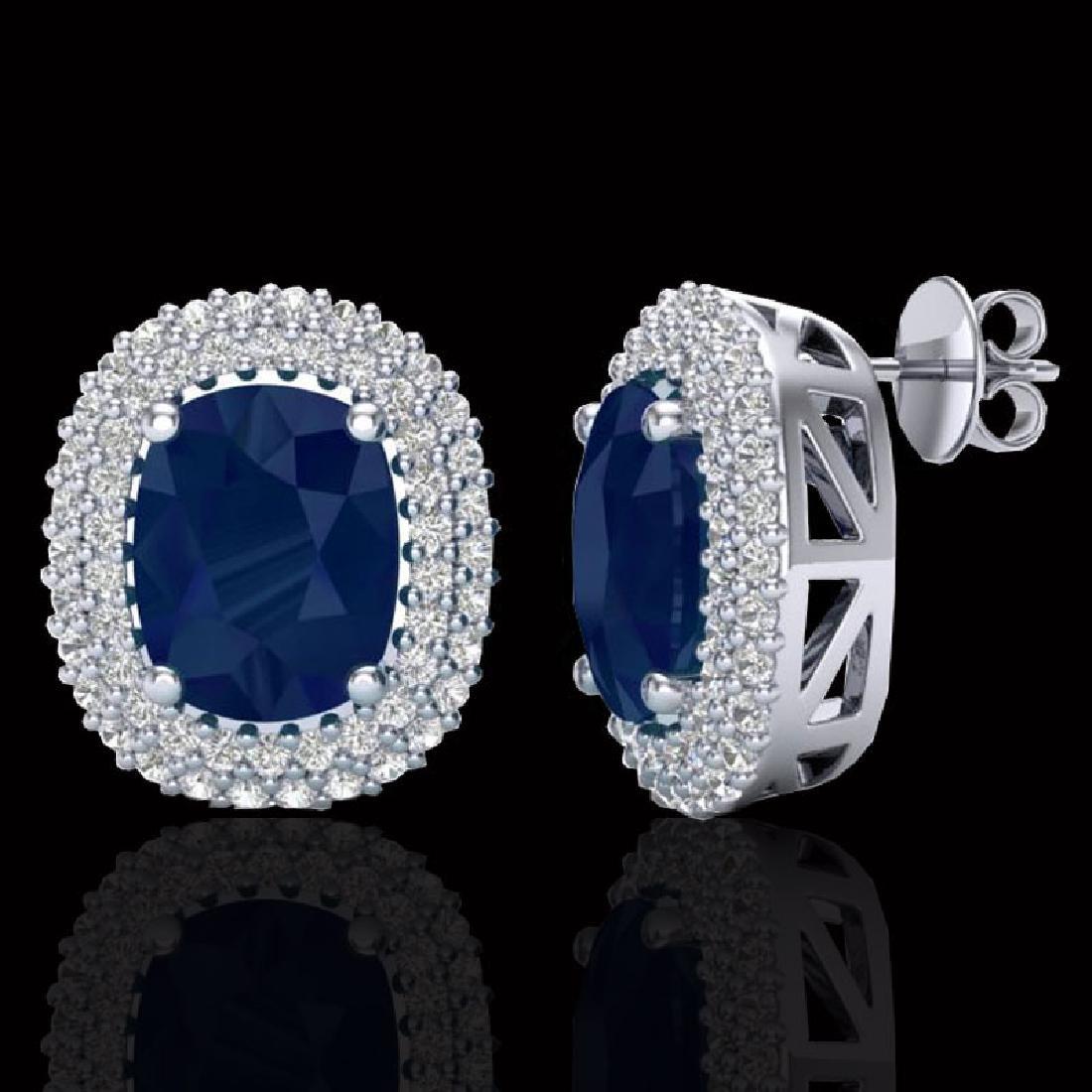 6.30 CTW Sapphire & Micro Pave VS/SI Diamond Halo - 2
