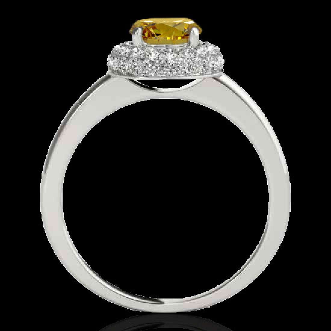 1.43 CTW Certified SI/I Fancy Intense Yellow Diamond - 2