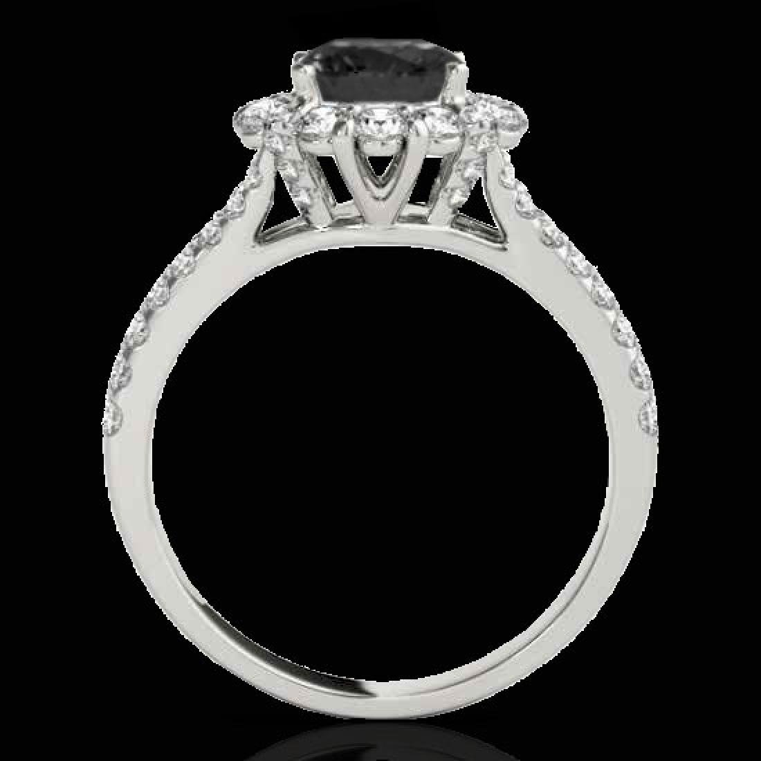 2.51 CTW Certified VS Black Diamond Solitaire Halo Ring - 2