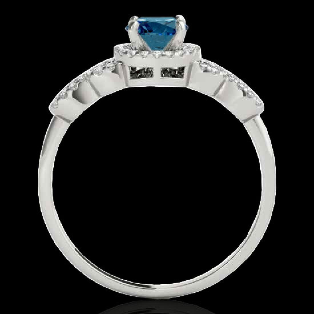 1.33 CTW SI Certified Fancy Blue Diamond Solitaire Ring - 2