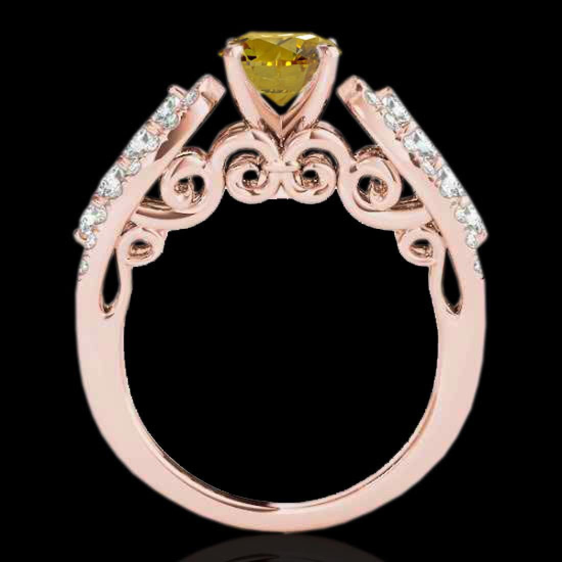 2 CTW Certified SI/I Fancy Intense Yellow Diamond - 2