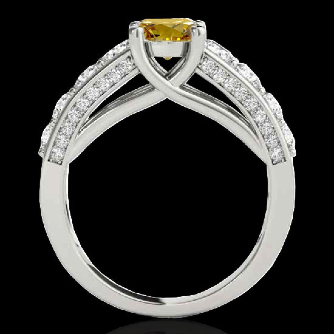 3.05 CTW Certified SI/I Fancy Intense Yellow Diamond - 2