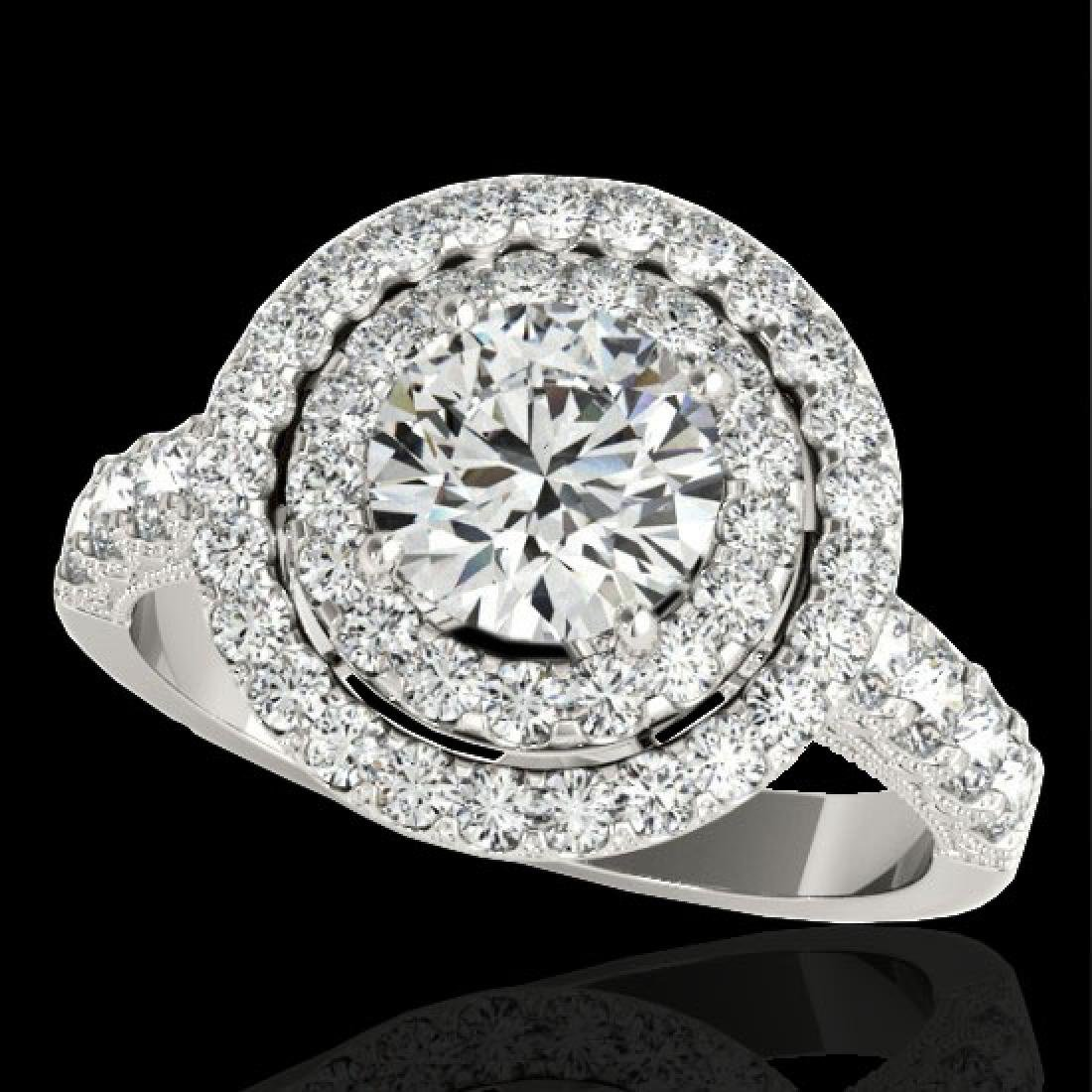 2.25 CTW H-SI/I Certified Diamond Solitaire Halo Ring
