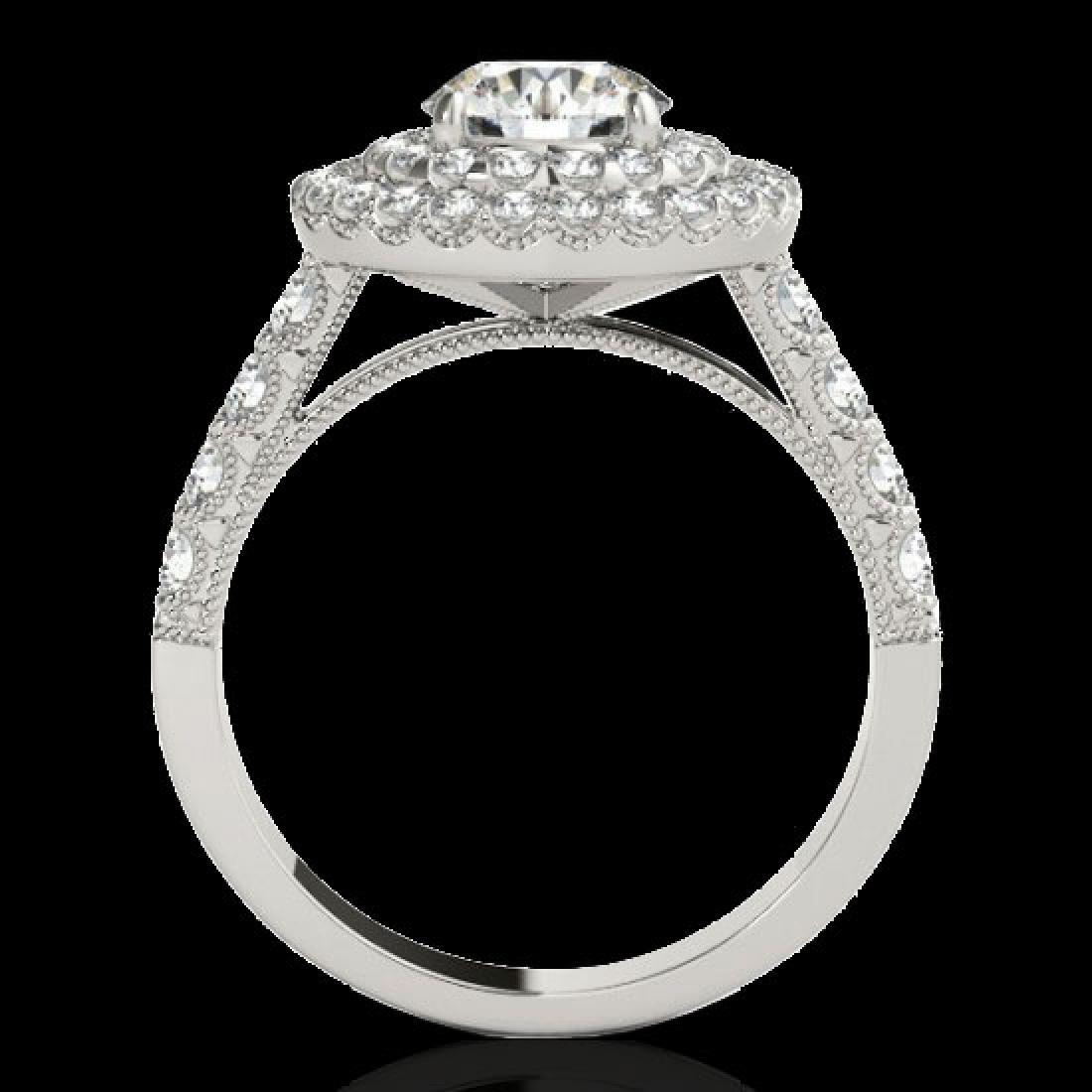 2.25 CTW H-SI/I Certified Diamond Solitaire Halo Ring - 2
