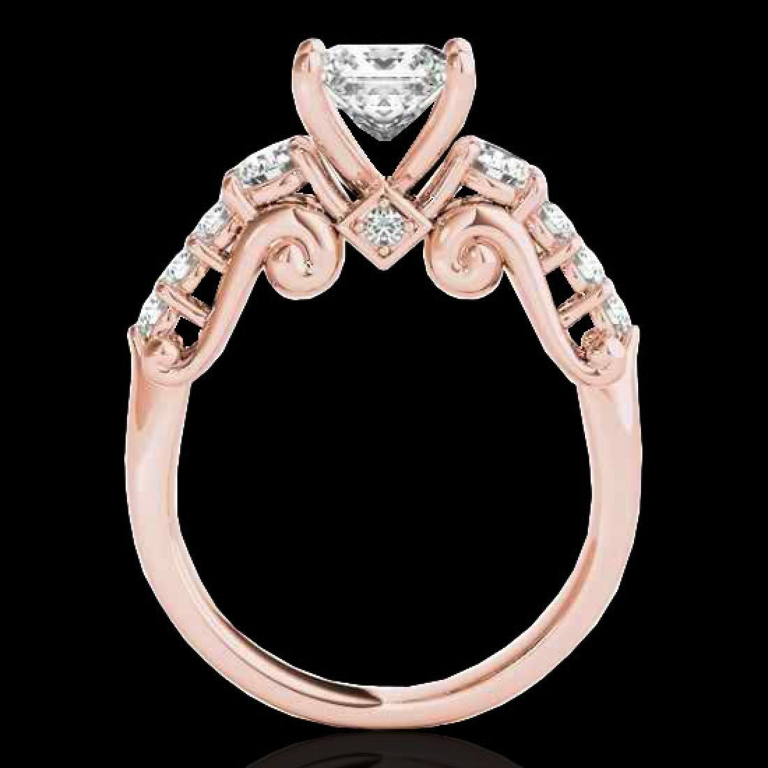 1.75 CTW VS/SI Certified Princess Diamond 3 Stone Ring - 2