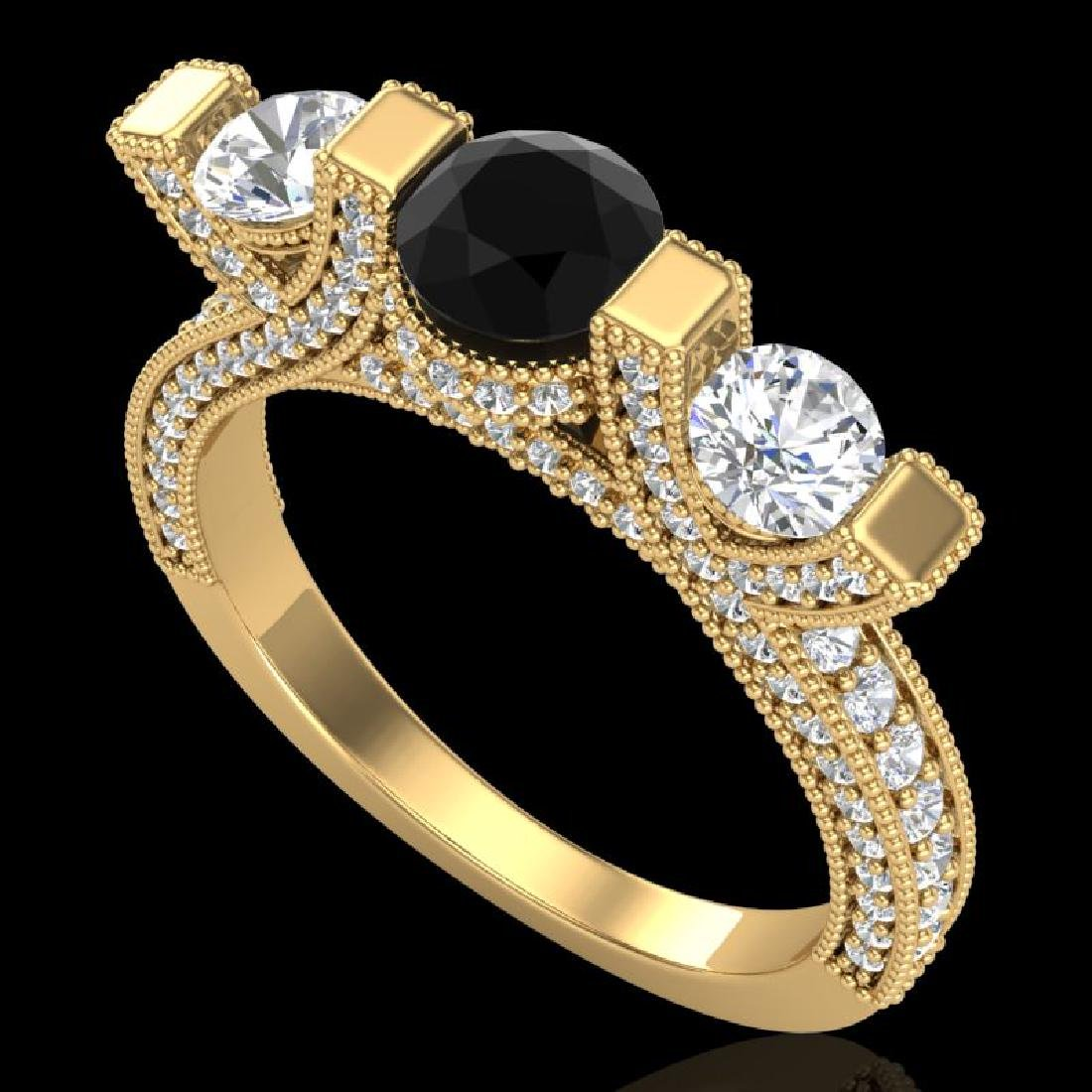 2.3 CTW Fancy Black Diamond Solitaire Micro Pave 3