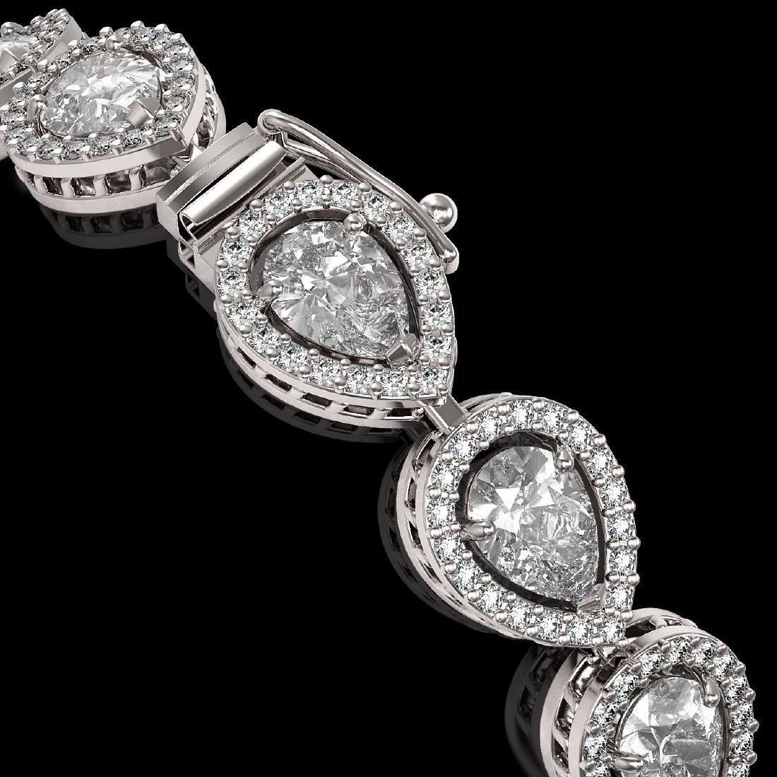 12.38 CTW Pear Diamond Designer Bracelet 18K White Gold - 3