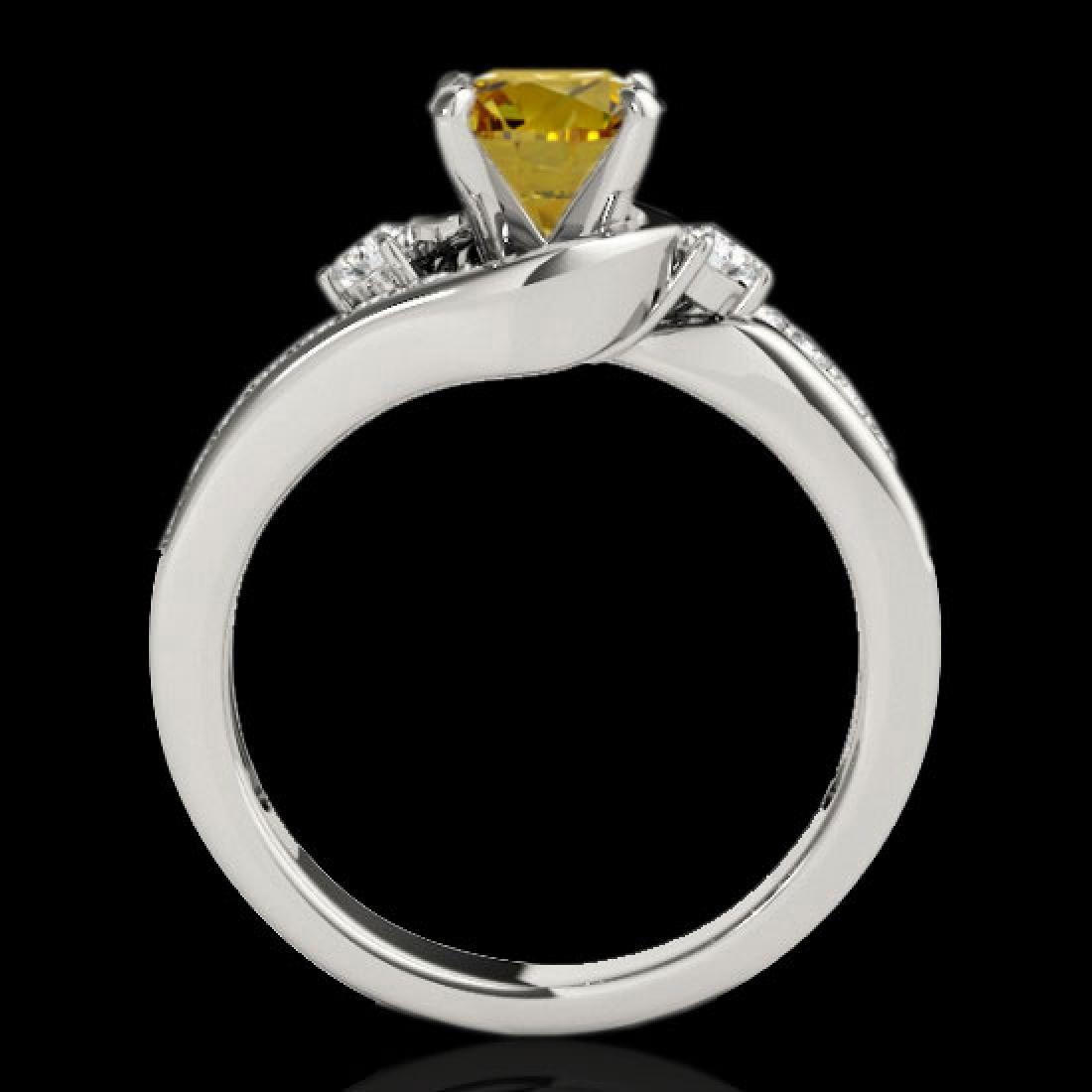 1.75 CTW Certified Si Intense Yellow Diamond Bypass - 2